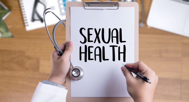 doctor's clip board with words sexual health